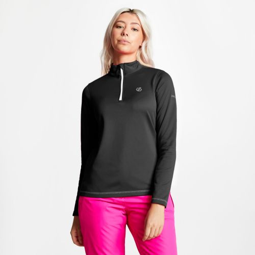 Women's Lowline Core Stretch Half Zip Midlayer - Black